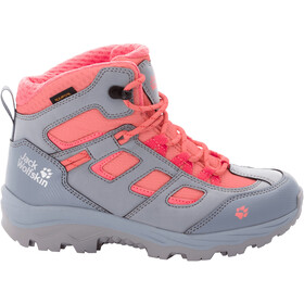 Jack Wolfskin Vojo Texapore Chaussures Mi-Hautes Enfant, grey pink